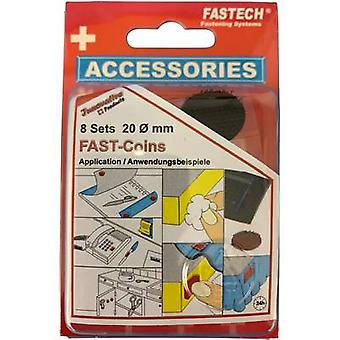 FASTECH® 685-330 Hook-and-loop stick-on dots stick-on (hot melt adhesive) Hook and loop pad (Ø) 20 mm Black 8 Pair