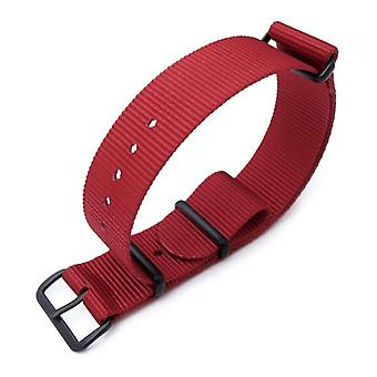 Strapcode n.a.t.o watch strap miltat 18mm or 20mm g10 military watch strap ballistic nylon armband, pvd - red