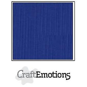 CraftEmotions linnen karton 100 Sh blauw Bulk LHC-46 A4 250gr