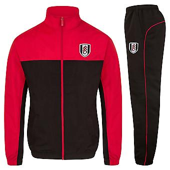 Fulham FC Official Football Gift Mens Jacket & Pants Tracksuit Set