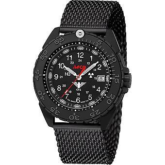 KHS Wristwatch الرجال المنفذ الأسود الصلب CR KHS. ENFBSCR. ميغابايت