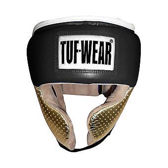 Tuf Wear Apollo Metallic Leather Headguard with Cheek Black / Rose Gold