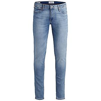 Jack and Jones Mens Skinny Jeans Button Fastening Zip Fly Trousers Pants Lightweight