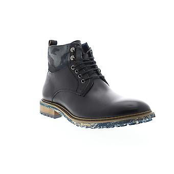 English Laundry Ronan  Mens Black Leather Lace Up Casual Dress Boots