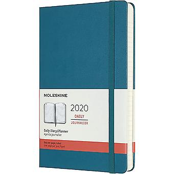 Moleskine 12months notebook daily large dark green hard cover
