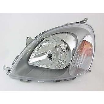 Left Passenger Headlamp (Replaces Valeo Type Only) for Toyota YARIS 2001-2003