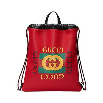 Gucci Ezcr005012 Herren's roter Lederrucksack