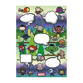 Offisielle Marvel Kawaii kjøleskap Magnet satt