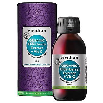 Viridian Organic Elderberry Extract 100ml (908)