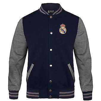 Real Madrid Mens Jacket Varsity Baseball Retro Cadeau officiel de football