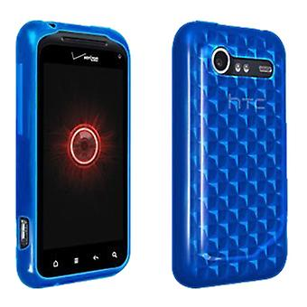 Verizon Silikon fall för HTC Droid Incredible 2 6350 - Blue Checkered