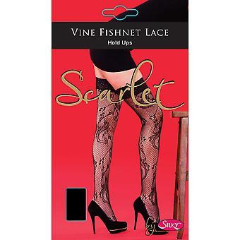 Silkkinen naisten/naisten Scarlet Vine pidä UPS (1 pari)