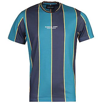 Marshall Artist Vertical Stripe Teal T-Shirt