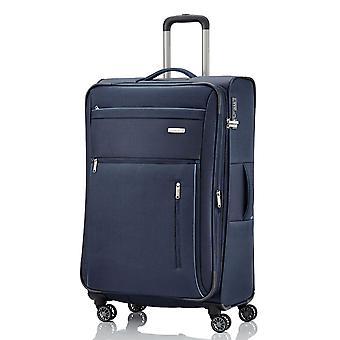 travelite Capri Trolley L, 4 rouleaux, 76 cm, 98 L, Bleu