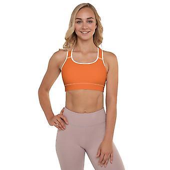 Vadderad Sport Bra | Helt enkelt Orange