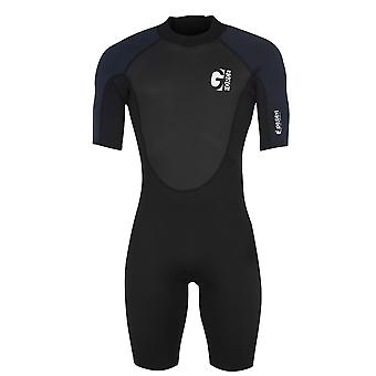 Gul Mens Short Wetsuit Short Sleeve High Neck Sports Diving Swimming Costume