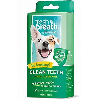 Tropiclean Fresh Breath Clean Teeth Oral Care Gel - Verwijdert Plaque/Tartaar, 118ml