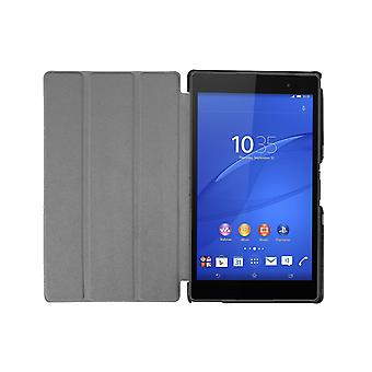 "Slim Compact PU Leather Magnetic Case voor Sony Z3 8"" Compact [Bruin]"