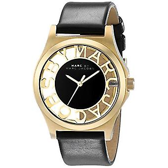 Marc Jacobs MBM1246 Henry Black Cut-out Dial Gold Ion-plate Ladies Watch
