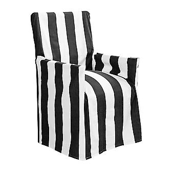 Outdoor Stripe Director Chair Cover Std Black