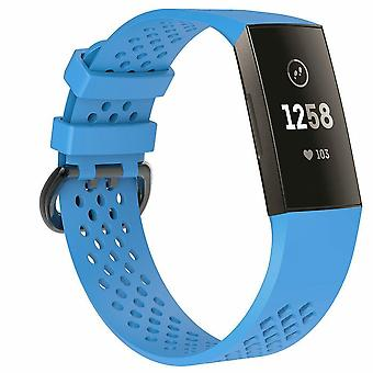 Replacement Strap Silicone Band Bracelet Wristband for Fitbit Charge 3[Small Fits Wrist 5.5