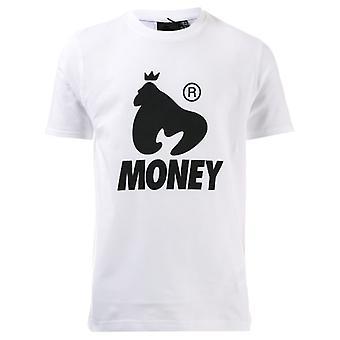 Boy's Money Junior Black Label Logo T-Shirt in White