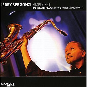 Jerry Bergonzi - Simply Put [CD] USA import