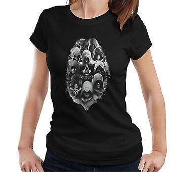 Assassins Creed 10 Yıllık Karakterler Women's T-Shirt