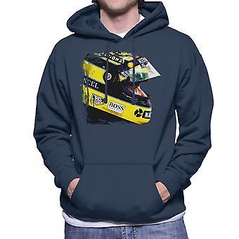 Motorsport Images Aryton Senna At Suzaka Japanese GP Men's Hooded Sweatshirt