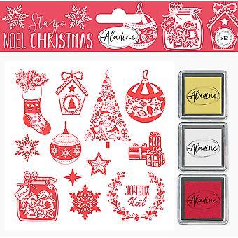Aladine رغوة الطوابع الكلاسيكية عيد الميلاد