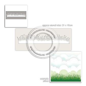 Polkadoodles gräs gräsmatta stencil