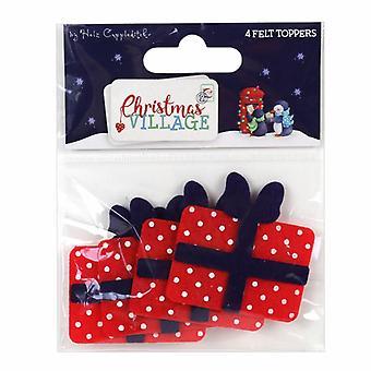 Trimcraft Christmas Village Felt Toppers Presents