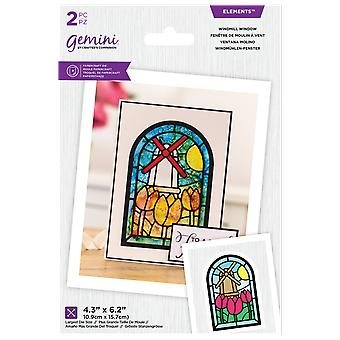Gemini Single Lily Window Elements Die