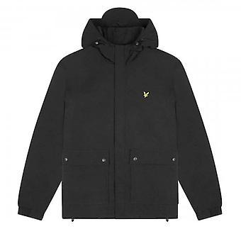 لايل وسكوت أسود غطاء جيب سترة JK1310V