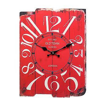 Vert / gris / rouge rétro rétro vintage horloge murale à la maison décorations café-café