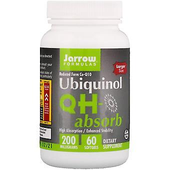 Formules Jarrow, Ubiquinol, QH-Absorb, 200 mg, 60 Softgels