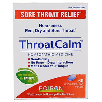 Boiron, ThroatCalm, 60 Quick Dissolving Tablets