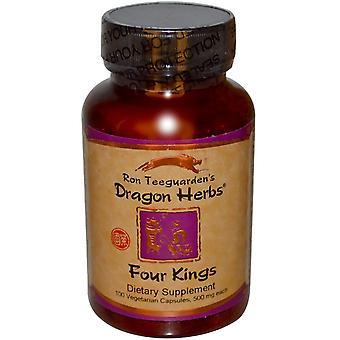 Dragon Herbs, Four Kings, 500 mg Each, 100 Veggie Caps