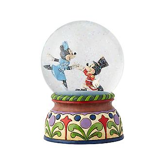 Jim Shore Disney Traditions Mickey And Minnie Nutcracker Musical Waterball