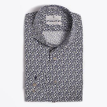 Thomas Maine  - Floral Print Shirt - Navy