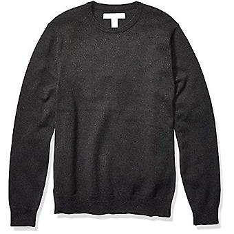 Essentials Men's Crewneck Pullover Pullover, -Charcoal Space-Dye, X-Large