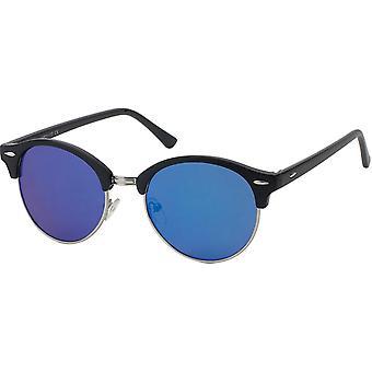 Sunglasses Women's Panto Black/Blue (19-190)