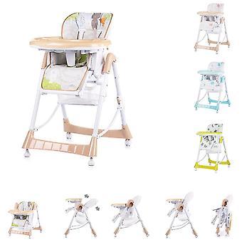 Chipolino Comfort Plus høj stol justerbar med bord, højde og ryglæn