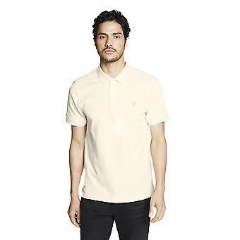 Farah Blanes Hombres Polo Camisa - Amarillo