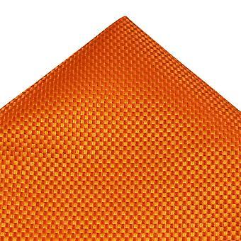 Ties Planet Tresanti Orange & Gold Micro Gecontroleerd Silk Pocket Square Zakdoek
