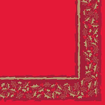 Red Twelfth Night Christmas Napkins 3 ply 40cm