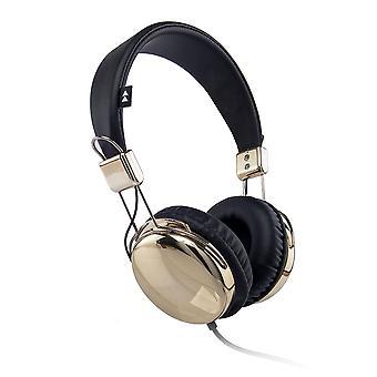 Flash-On Metallic Headphones - Gold/Black (FLASH-ON-GDB)