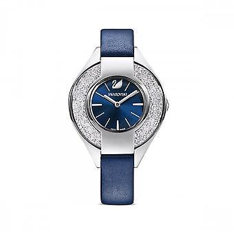 Swarovski krystallinsk sporty lærrem blå rustfritt stål klokke 5547629