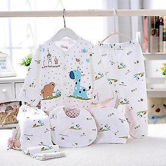 Newborn Baby Unisex Cotton Outfit Set Soft Underwear Animal Print T-shirt+pant