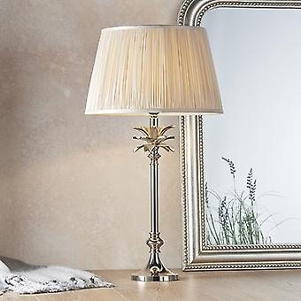 Lampe de table Poli Nickel Plate & Oyster Silk 1 Light IP20 - E27